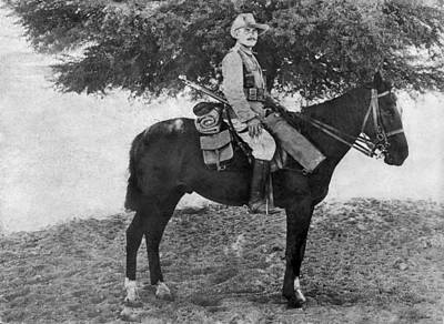 Ww1 Photograph - German Calvary Member by Underwood Archives