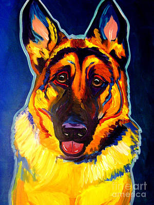German Shepherd - Sengen Print by Alicia VanNoy Call