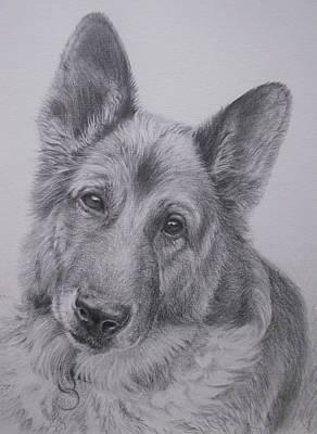 German Shepherd Print by Keran Sunaski Gilmore