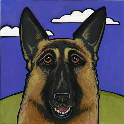 German Shepherd Print by Leanne Wilkes