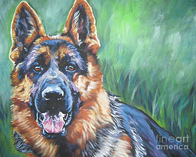 German Shepherd Print by Lee Ann Shepard
