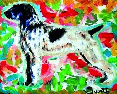 Dog Painting - German Wirehaired Pointer by Char Swift