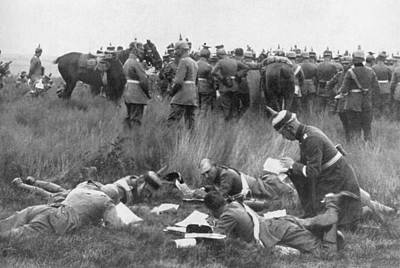 Ww1 Photograph - Germans Decipering Code by Underwood Archives