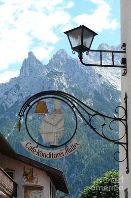 Bavarian Photograph - Germany - Cafe Sign by Carol Groenen