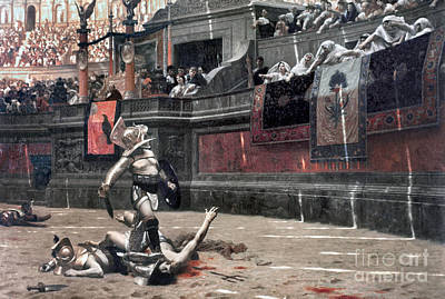 Gerome: Gladiators, 1874 Print by Granger