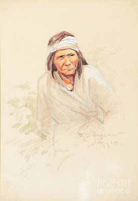 Wolf Watercolor Painting - Geronimo by Celestial Images