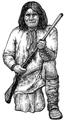 Geronimo Print by Karl Addison