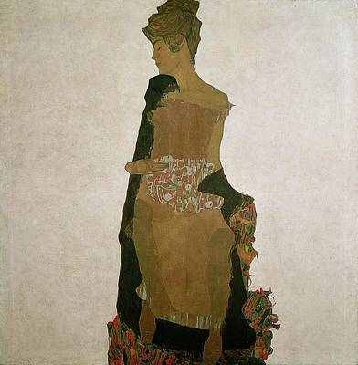 Angular Painting - Gerti Schiele by Egon Schiele