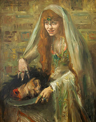 Gertrud Eysoldt As Salome Print by Lovis Corinth