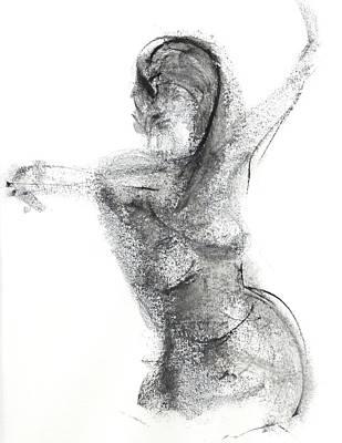 Drawing - Gesture by Chris N Rohrbach