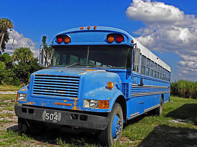 Old School Bus Photograph - Get On The Bus by Elizabeth Hoskinson