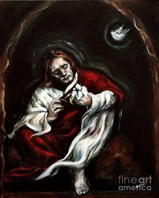 Gethsemane Print by Carrie Joy Byrnes