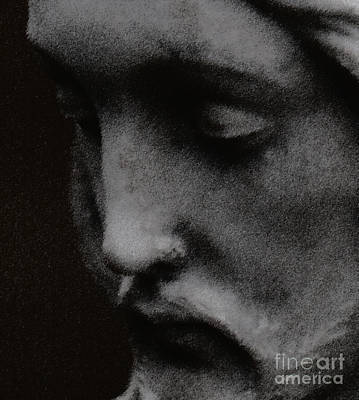 Statue Portrait Digital Art - Gethsemane by Linda Knorr Shafer