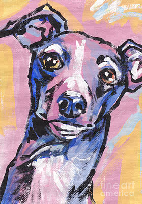 Greyhound Painting - Gettin Iggy Wit It by Lea S