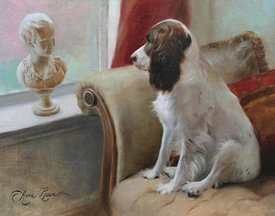 Springer Spaniel Painting - Getting Acquainted by Anna Rose Bain