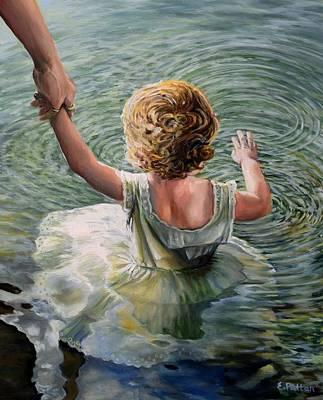 Getting Her Feet Wet Original by Eileen Patten Oliver