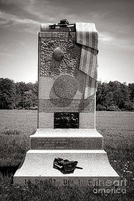 Gettysburg National Park 121st Pennsylvania Infantry Monument Print by Olivier Le Queinec