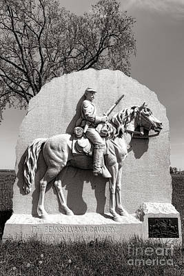 Gettysburg National Park 17th Pennsylvania Cavalry Monument Print by Olivier Le Queinec