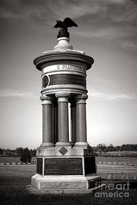 Gettysburg National Park 71st And 72nd New York Infantry Monument Print by Olivier Le Queinec