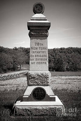 Gettysburg National Park 76th New York Infantry Monument Print by Olivier Le Queinec