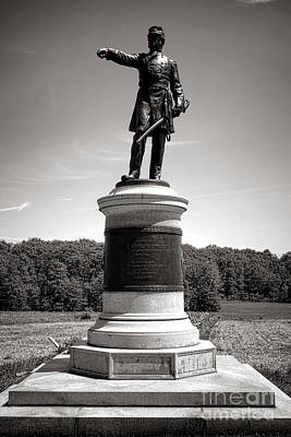 Gettysburg National Park James Samuel Wadsworth Monument Print by Olivier Le Queinec
