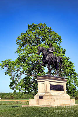 Reynolds Photograph - Gettysburg National Park John Fulton Reynolds Memorial by Olivier Le Queinec