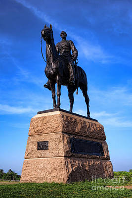 Mead Photograph - Gettysburg National Park Major General George Mead Memorial by Olivier Le Queinec