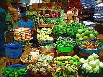 Vegatables Painting - Ghanaian Market by Deborah MacQuarrie