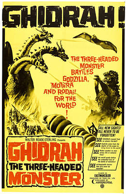 1960s Movies Photograph - Ghidrah, The Three-headed Monster by Everett