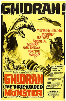 1960s Poster Art Photograph - Ghidrah, The Three-headed Monster by Everett
