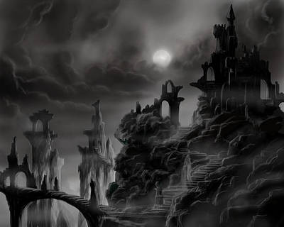 Ghost Castle Print by James Christopher Hill