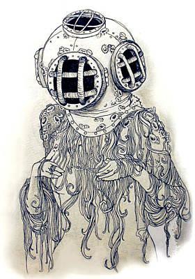 Ghost Diver Print by Cassandra Hewitt