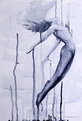 Olivia Painting - Ghost Leaving by Olivia Sementsova