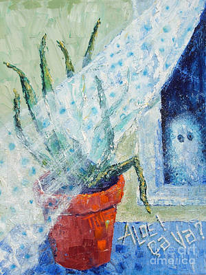 Aloe Painting - Ghost Loves Aloe by Doris Blessington