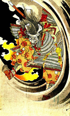 Ghost Of Warrior Tomomori 1880 Print by Padre Art