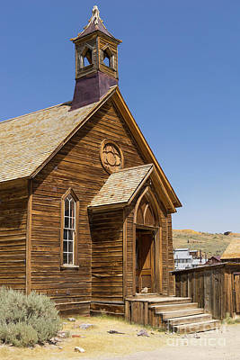 49er Photograph - Ghost Town Of Bodie California Methodist Church Dsc4348 by Wingsdomain Art and Photography
