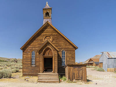 49er Photograph - Ghost Town Of Bodie California Methodist Church Dsc4473 by Wingsdomain Art and Photography