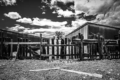 Black Metal Fence Photograph - Ghost Town Ranch by Marilyn Hunt
