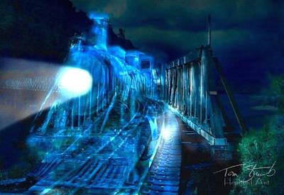 Ghost Train Bridge Print by Tom Straub