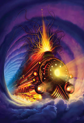 Fire Painting - Ghost Train by Philip Straub