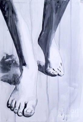 Olivia Painting - Ghost Walking by Olivia Sementsova
