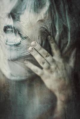 Creepy Digital Art - Ghost.echoes.silent Sounds. by Joanna Jankowska