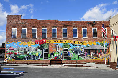 Mural Photograph - Ghostly Plant City Mural  by David Lee Thompson