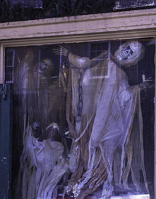 Skull Photograph - Ghosts In Window by Garry Gay
