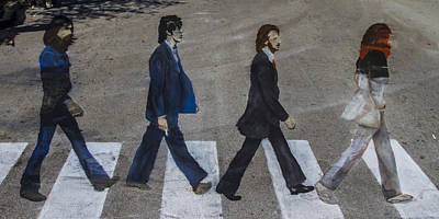 Ghosts Of Abby Road Print by Debra and Dave Vanderlaan