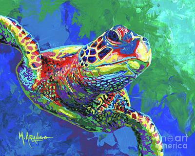 Giant Sea Turtle Original by Maria Arango