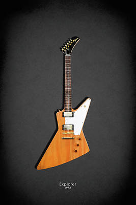 Gibson Explorer 1958 Print by Mark Rogan
