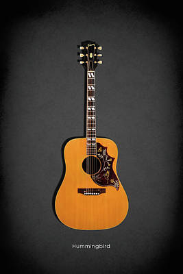Guitar Photograph - Gibson Hummingbird 1968 by Mark Rogan