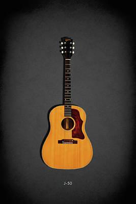 Acoustic Guitar Photograph - Gibson J-50 1967 by Mark Rogan