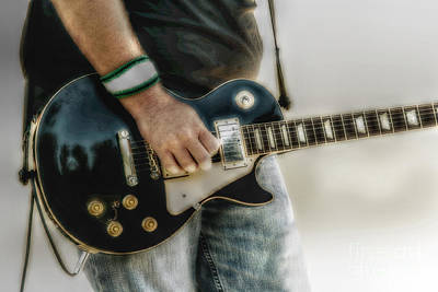 Music Digital Art - Gibson Les Paul Guitar Player Two by Randy Steele